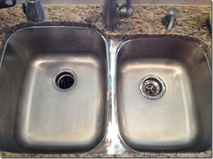 How to make your stainless steel sink look brand-new again using two household items.