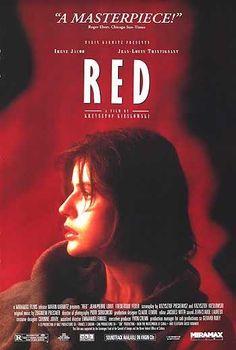 #15 Three Colors: Red 1994 (Dir. Krzysztof Kieslowski. With Irene Jacob, Jean-Louis Trintignant, Frederique Feder, Jean-Pierre Lorit, Juliette Binoche, Benoit Regent, Zbigniew Zamachowski, Julie Delpy)