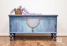 blue Bohemian Style Cedar Chest #affiliate #paintedfurniture