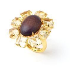Bounkit Fall 2012 - Ring with Wood and Citrine