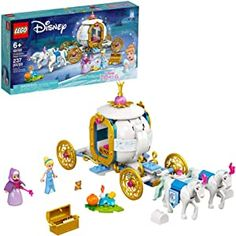 LEGO Disney Cinderella's Royal Carriage 43192; Creative Building Kit That Makes a Great Gift, New 2021 (237 Pieces) Lego Disney Princess, Disney Princess Carriage, Disney S, Gifts For Kids, Great Gifts, Lego Animals, Fantasy Princess, Old Fan, Historia