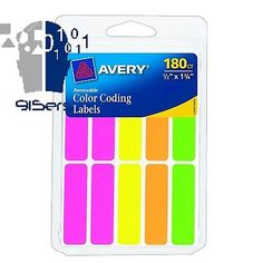 Avery Rectangular Color Coding Labels, 0.5 x 1.75 Inches, Assorted,... 100% USA Shipped98.8% TopRatedPlusFree&Fast ShippingBest Prices can be Found @ 915ERS NETAvery Rectangular Color Coding Labels, 0.5 x 1.75 Inches, Assorted, Removable, Pack of 180 (6724)Ideal for document and inventory control, routing, organizing, highlighting, price marking, scheduling and more. Removable adhesive. Handwrite or print using your laser printer.Great for canning projects, branding products, business…