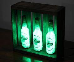 Luminária Garrafa Led Cerveja Kit Heineken - Deecor - R$ 149,90 em Mercado Livre