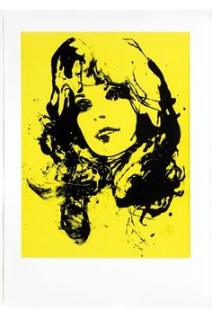Artist Francois Berthoud's engaging NY Girl Yellow illustration for Vogue's Art in Fashion (Vogue.com UK)
