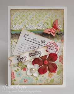 The Dining Room Drawers: Stampin Up Birthday Card