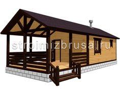 Баня с просторной террасой One Room Cabins, A Frame House Plans, Bamboo Construction, Home Bar Designs, Tiny House Design, Kit Homes, Creative Home, Wood Design, Gazebo