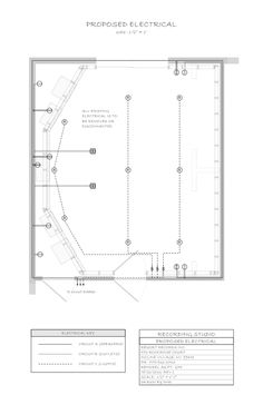 My final county construction permit application drawings.  Page 3 - Proposed electrical, plan drawing.