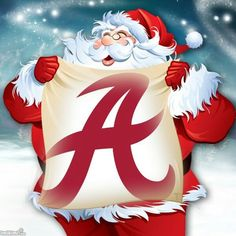Santa's Favorite Team...He ALWAYS sports Crimson and White! RTR