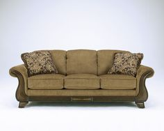 Nebraska Furniture Mart  Ashley Autumn Brown Microfiber Sofa Only