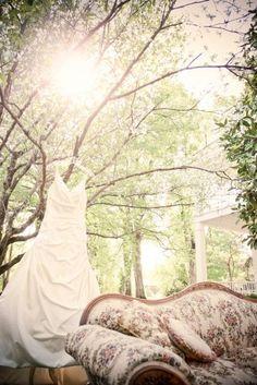dress shot - outdoor with vintage furniture