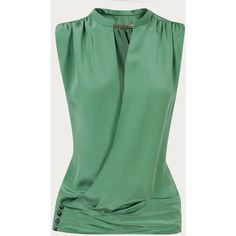 Buy Balenciaga Womens Sale From Matches Fashion ❤ liked on Polyvore featuring tops, blouses, blusas, green, shirts, balenciaga shirt, balenciaga top, shirt top, green blouse and shirt blouse