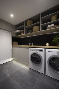 Practical Home laundry room design ideas 2018 Laundry room decor Small laundry room ideas Laundry room makeover Laundry room cabinets Laundry room shelves Laundry closet ideas Pedestals Stairs Shape Renters Boiler Home, House, White Laundry Rooms, Laundry In Bathroom, Triple Room, Modern Laundry Rooms, Room Design