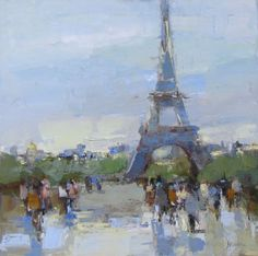 Paris. Oil on canvas, 20 x 20in. Barbara Flowers