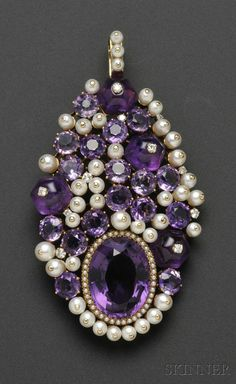 Brooches Jewels : Amethyst Cultured Pearl and Diamond Pendant/Brooch Belperron France set wit Purple Jewelry, Amethyst Jewelry, Gems Jewelry, Pearl Jewelry, Antique Jewelry, Vintage Jewelry, Fine Jewelry, Jewelry Necklaces, Bracelets
