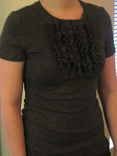 Tuxedo Tee Tutorial #TShirt #Refashion #Reconstruct #Makeover #Upcycle #Recycle  #Redo #Revamp