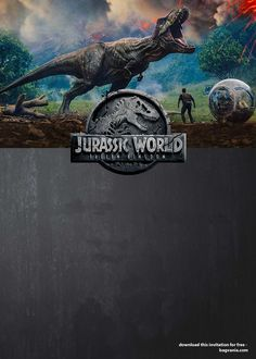 Jurassic World Invitation Jurassic World Digital File En 2019