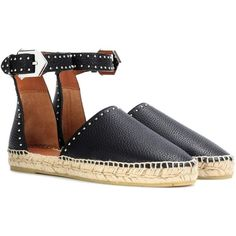 Givenchy Leather Espadrilles featuring polyvore women's fashion shoes sandals black espadrilles givenchy shoes givenchy leather sandals givenchy sandals genuine leather shoes