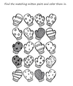 Jan Bretts The Mitten printable activity Love this book jh