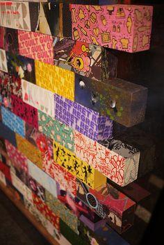 Brick by Brick. Brick Art, Find Objects, Crafty Craft, Street Artists, Art Google, Classroom Decor, Artsy Fartsy, Graffiti, Projects To Try