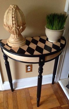 Hand Painted Console Table Harlequin Design