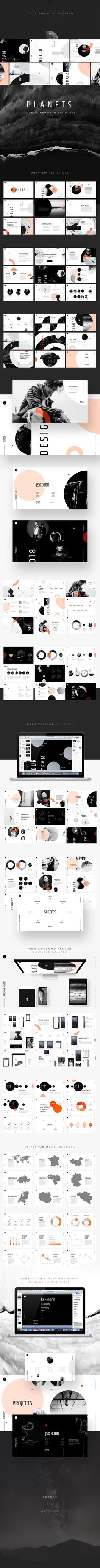 PLANETS Keynote Template by @diisakov on @creativemarket . Included 150 unique and trending slides. Go to shop and enjoy! #template #powerpoint #slide #creativemarket