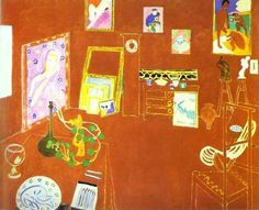 Matisse The Red Studio - Atelier Rouge oil painting reproduction on canvas