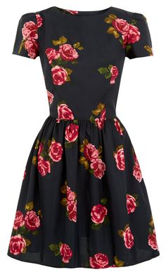 Primark Rose Print Tea Dress, £8 -   Ooo yes, a dress I like with sleeves! Getting this to cover my armssssss!