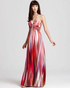 #Tie Dye Halter Maxi Dress | Dresscab