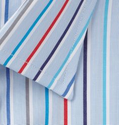 Turnbull & Asser - Blue Slim-Fit Striped Cotton Shirt