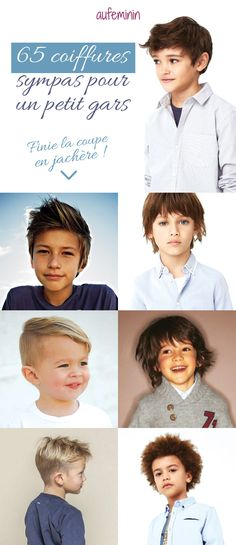 Sélectionnés pour vous : 65 coiffures sympas et cools pour votre petits gars. Vous trouverez forcement la coupe de cheveux qui ira à votre petit garçon. Des coiffures courtes ou longues pour tous les goûts.
