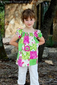 Scattered Thoughts of a Crafty Mom: Patchwork Tunic Top