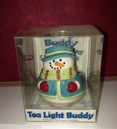 Jolly Snowman Votive Holder Tea Light Ceramic Buddy Frosty Winter Christmas Gift #Waxcessories