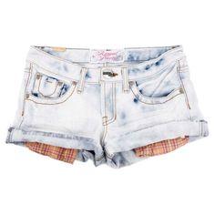 ブリーチデニムショートパンツ|ROYAL PARTY|パンツ|ファッション通販 My Fashion(マイファッション) ($64) ❤ liked on Polyvore featuring shorts, bottoms, pants, short, short shorts, party shorts and going out shorts