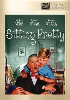 """Sitting Pretty~ Maureen O' Hara, Robert Young and Clifton Webb the first """"Mr. Belvedere"""" movie"""