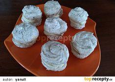 "Falešné ""makronky"" recept - TopRecepty.cz Muffin, Ice Cream, Cheese, Breakfast, No Churn Ice Cream, Morning Coffee, Icecream Craft, Muffins, Cupcakes"