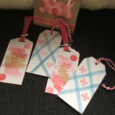 Lieve labels - Stampin Up Work of Art en labelpunch.