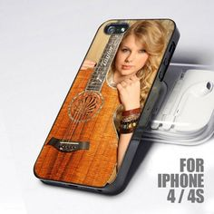 Taylor Swift With Guitar Acoustic design for iPhone 4 or 4s case