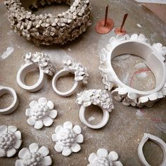 "439 Likes, 7 Comments - Vanessa Hogge | Ceramicist (@vanessahogge) on Instagram: ""Working on solid porcelain #rings and #bracelets for #madebrighton16 - the difficult part is…"""