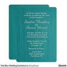 Teal Blue Wedding In