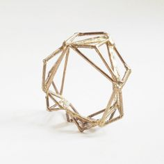 Brass Pyramid Statement Bangle