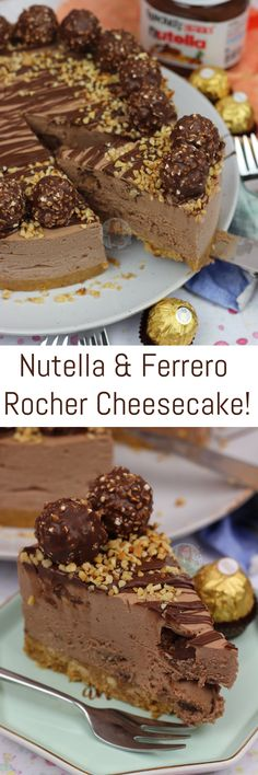 Trendy cheese cake no bake nutella ferrero rocher 56 Ideas Cheese Cake Nutella, Nutella Cheesecake, Cheesecake Recipes, Cookie Recipes, Ferrero Rocher Cheesecake, No Bake Cheesecake, No Bake Cookies, No Bake Cake, No Bake Desserts