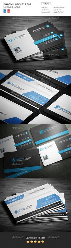 Bundle Business Card Template PSD #visitcard #design Download: http://graphicriver.net/item/bundle-business-card/13298379?ref=ksioks