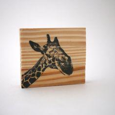 Giraffe Art, Wildlife Art, Animal Art, Recycled Art, Natural Giraffe Art, Small Art, Desk Art, Wood Decor, Rustic Art, Affordable Art Giraffe Images, Giraffe Art, Jungle Theme Parties, Safari Decorations, Art Desk, Rustic Art, Small Art, Safari Animals, Affordable Art