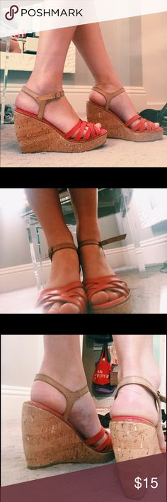 Coral Wedges Cute and outrageously comfy coral wedges ❤️ GAP Shoes Wedges