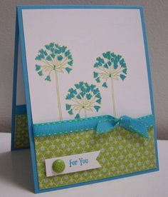 Stamping with Loll: Simply Soft in Turquoise - coloring with Markers (Mar. 2012)