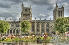 Bristol Cathedral - Bristol, England.  Although the Anglicans established a church here in 740,  it took 700 years to build the cathedral.