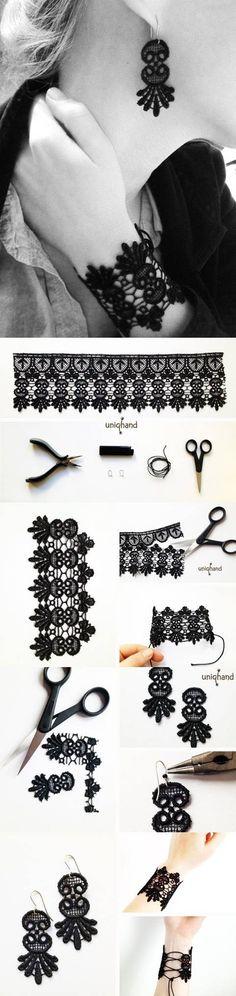diy-lace-bracelet-and-earrings