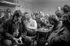 NUM branch meeting for Darfield Main Colliery at Mitchell & Darfield Social Club, Roy Kilner Road, Wombwell, 1985 Billy Elliot, North East England, Coal Mining, British History, The Guardian, Classic Hollywood, Childhood Memories, Vintage Photos, Britain