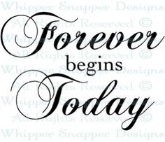 Forever Begins Today - Wedding Sayings - Wedding - Rubber Stamps - Shop