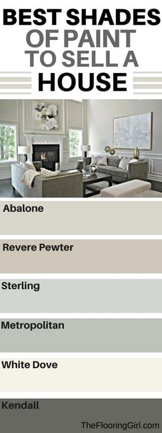 What are the best paint colors for selling your house - Selling House Tips - Ideas of Selling House Tips - Like sterling for living room pewter for bedroom Home Staging, Kitchen Staging, Home Depot Kitchen, Best Paint Colors, Wall Colors, Living Room Paint Colours, House Paint Colors, Best Bedroom Paint Colors, Paint For House